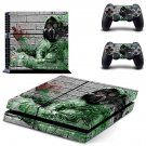 Pollution masked skin decal for PS4 PlayStation 4 console and 2 controllers