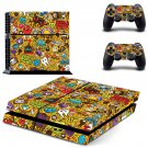 Sticker bomb skin decal for PS4 PlayStation 4 console and 2 controllers