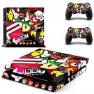 Eat sleep jdm domo skin decal for PS4 PlayStation 4 console and 2 controllers