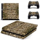 Rusted stone Wall print skin decal for PS4 PlayStation 4 console and 2 controllers