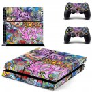 Street art skin decal for PS4 PlayStation 4 console and 2 controllers