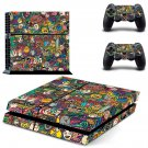Papel de parede lol meme skin decal for PS4 PlayStation 4 console and 2 controllers