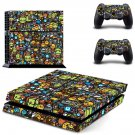 Emoji  skin decal for PS4 PlayStation 4 console and 2 controllers