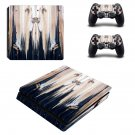 Wooden face board ps4 slim skin decal for console and controllers