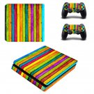 Colored wooden board ps4 slim skin decal for console and controllers