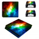 Colored Galaxy ps4 slim skin decal for console and controllers