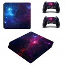 Open galaxy with star ps4 slim skin decal for console and controllers