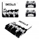 Skulls ps4 slim skin decal for console and controllers