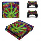 Trippy weed ps4 slim skin decal for console and controllers
