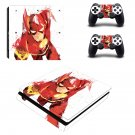 Flash ps4 slim skin decal for console and controllers