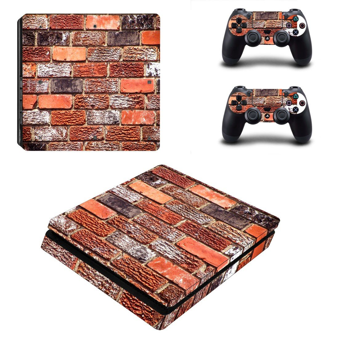 Brick wall  ps4 slim skin decal for console and controllers