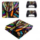 Colorful anime ps4 slim skin decal for console and controllers