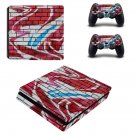Graffiti brick wall  ps4 slim skin decal for console and controllers