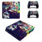 Trippy space ps4 slim skin decal for console and controllers