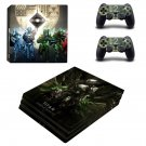 Titan ps4 pro skin decal for console and controllers