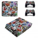 Graffiti ps4 pro skin decal for console and controllers