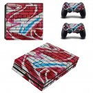 Colourful brick wall paint ps4 pro skin decal for console and controllers
