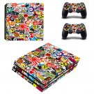 Sticker bomb  ps4 pro skin decal for console and controllers
