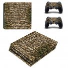 Rusted stone wall ps4 pro skin decal for console and controllers