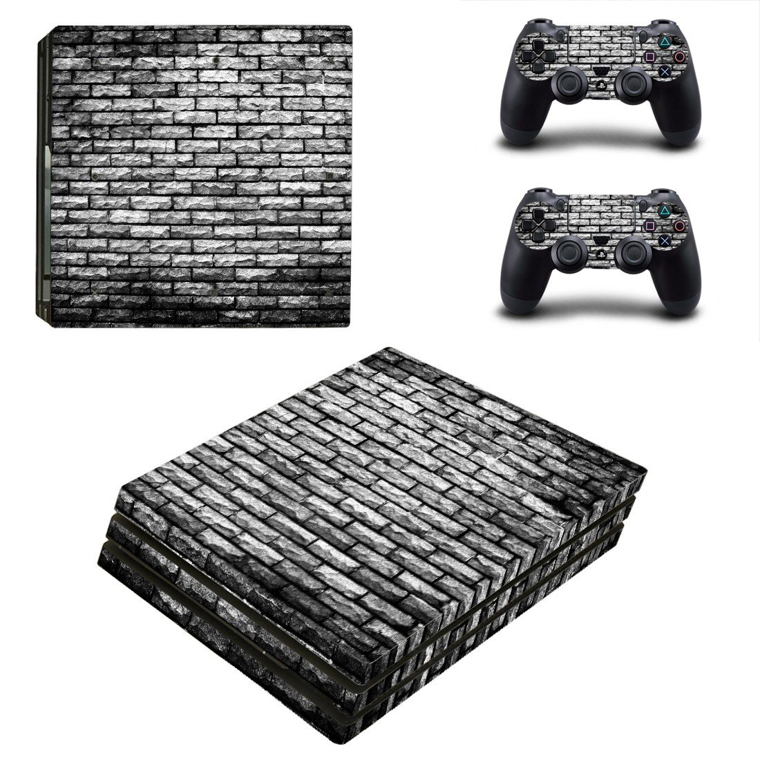 Shade Brick wall ps4 pro skin decal for console and controllers