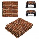 Brick wall print ps4 pro skin decal for console and controllers