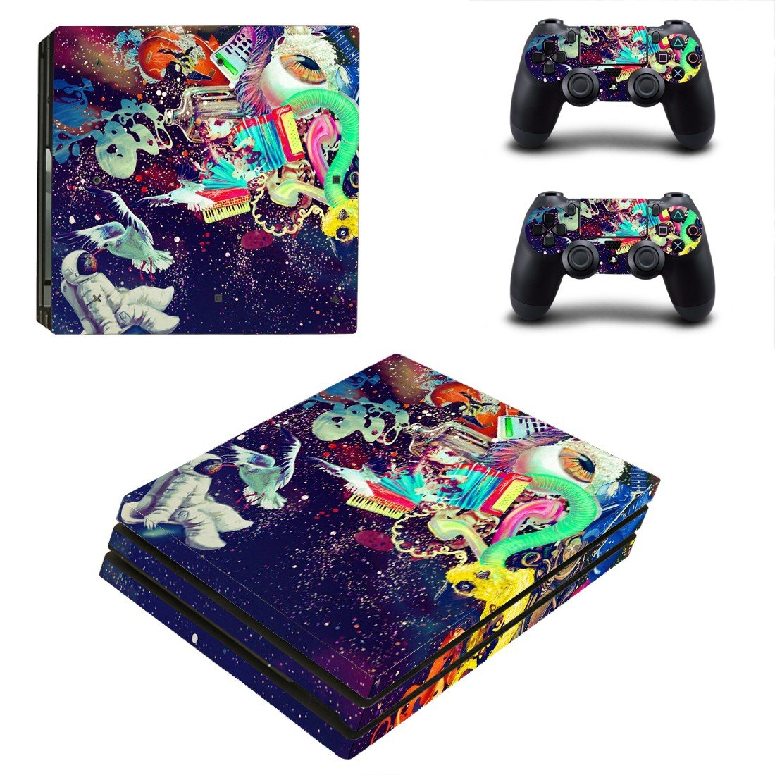 Trippy backgrounds ps4 pro skin decal for console and controllers