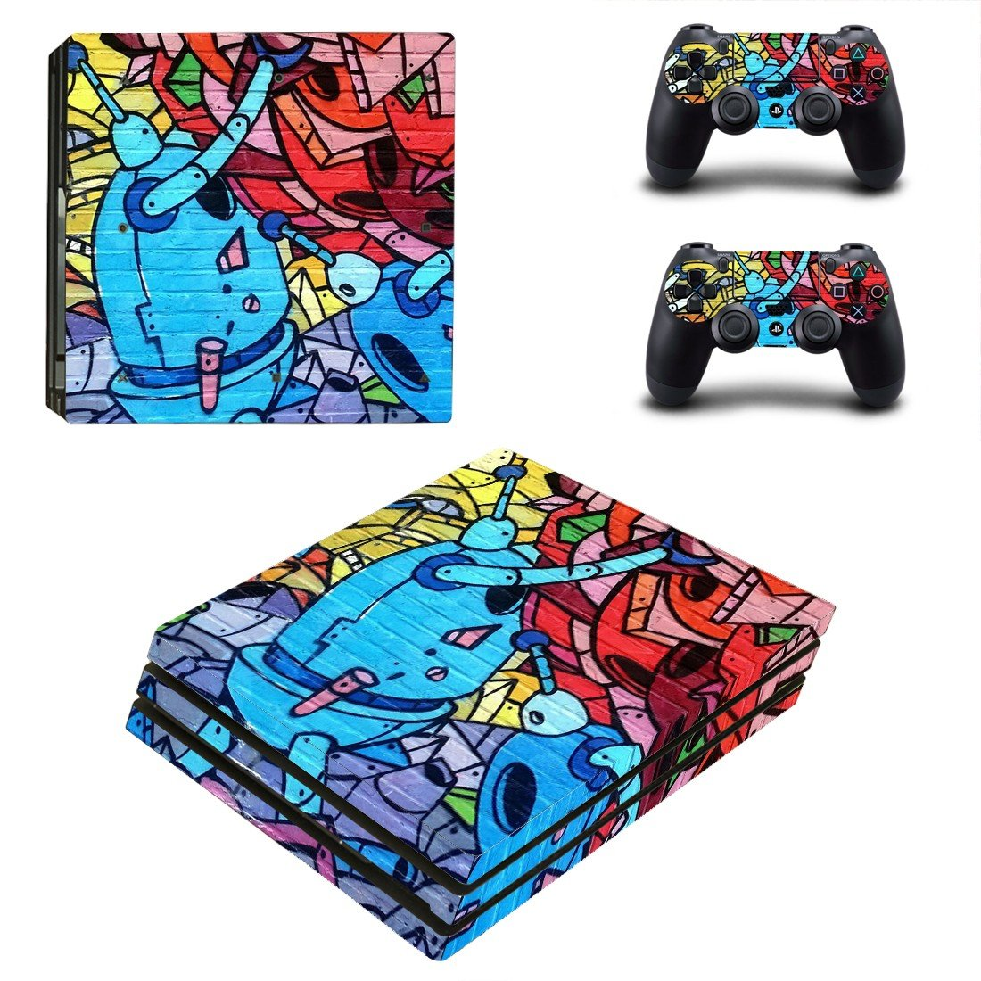 Prisma effect paint ps4 pro skin decal for console and controllers