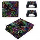 Funky ps4 pro skin decal for console and controllers