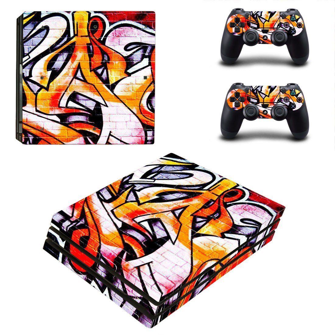 Graffiti tapet ps4 pro skin decal for console and controllers