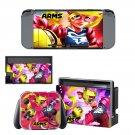 ARMS Nintendo switch console sticker skin