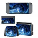 Lightning Galaxy Nintendo switch console sticker skin