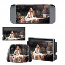 The lady of shalott Nintendo switch console sticker skin