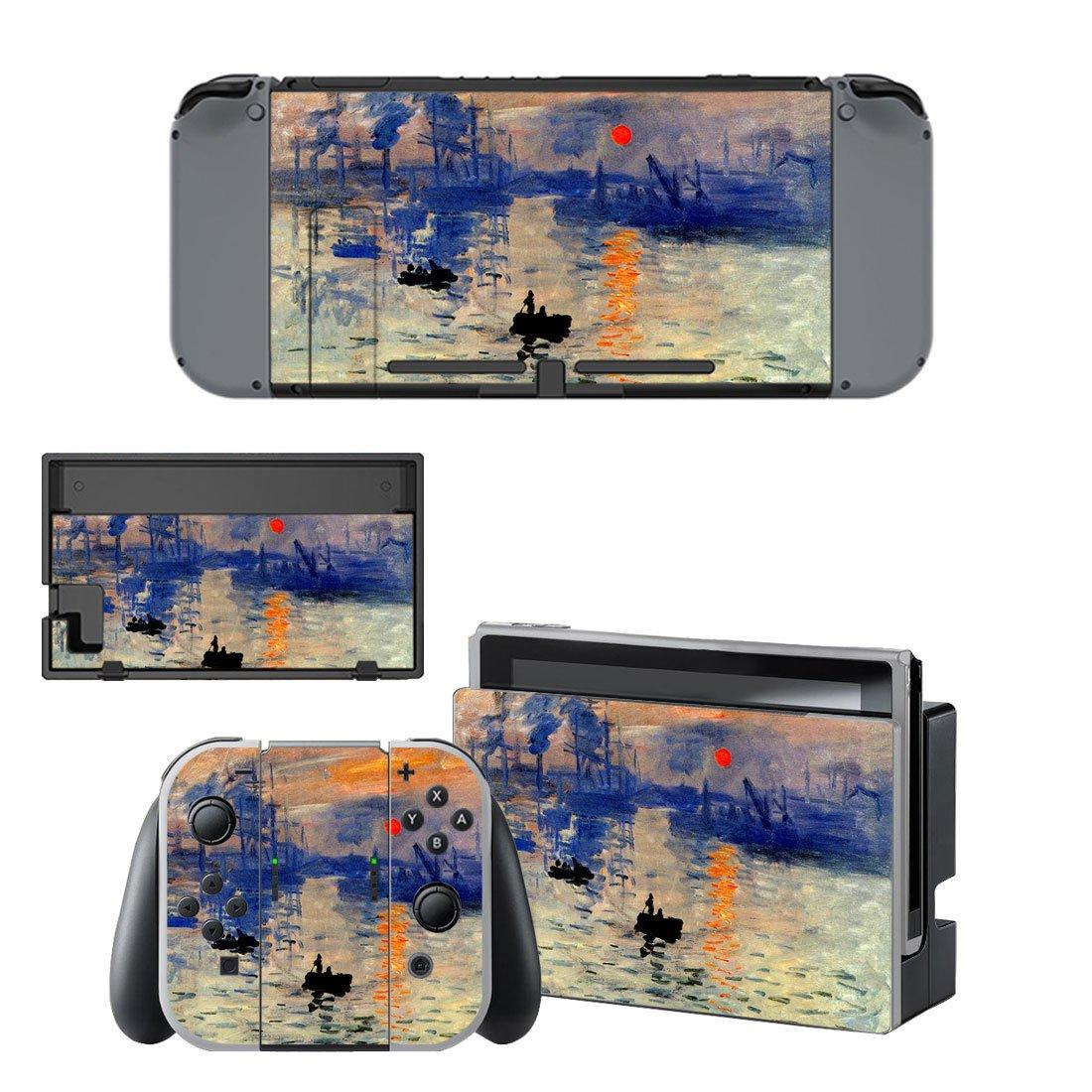 Sunrise Painting Nintendo switch console sticker skin