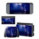 Lightning cloudy sky Nintendo switch console sticker skin