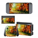 Painting of nature Nintendo switch console sticker skin