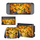 Yellow flowers oil painting Nintendo switch console sticker skin