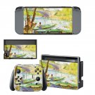 Fishing in spring Nintendo switch console sticker skin