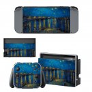 Starry night Nintendo switch console sticker skin