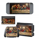 Jesus christ last supper painting Nintendo switch console sticker skin
