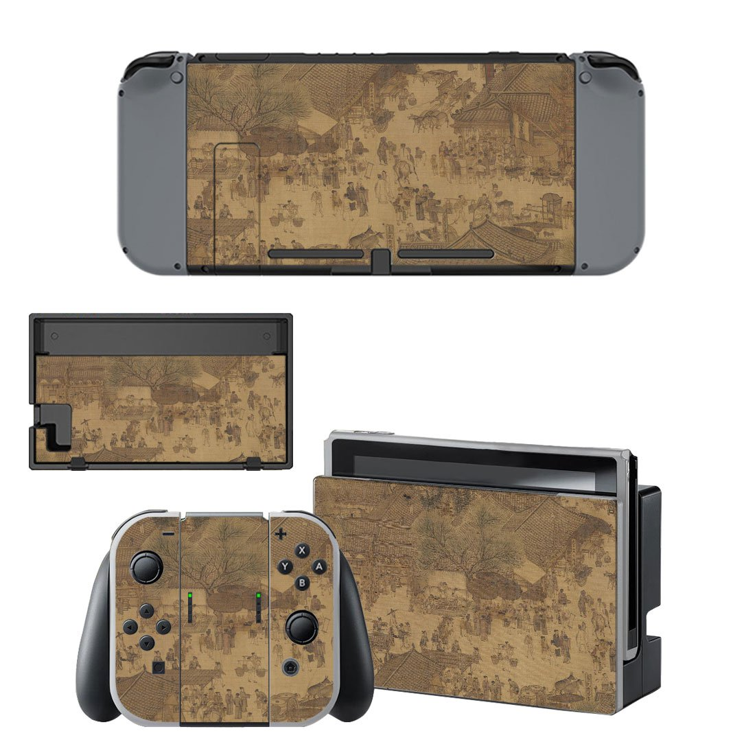 Along the River During the Qingming Festival Nintendo switch console sticker skin
