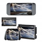 Lightning cloudy sky with road view Nintendo switch console sticker skin