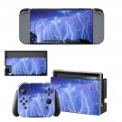 Lightning sky Nintendo switch console sticker skin