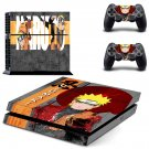 Naruto ps4 skin decal for console and 2 controllers