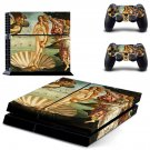 The Birth of Venus ps4 skin decal for console and 2 controllers