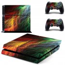 Abstract lightning art ps4 skin decal for console and 2 controllers