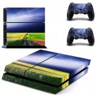 Lightning sky with nature view ps4 skin decal for console and 2 controllers
