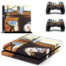 The Persistence of Memory ps4 skin decal for console and 2 controllers