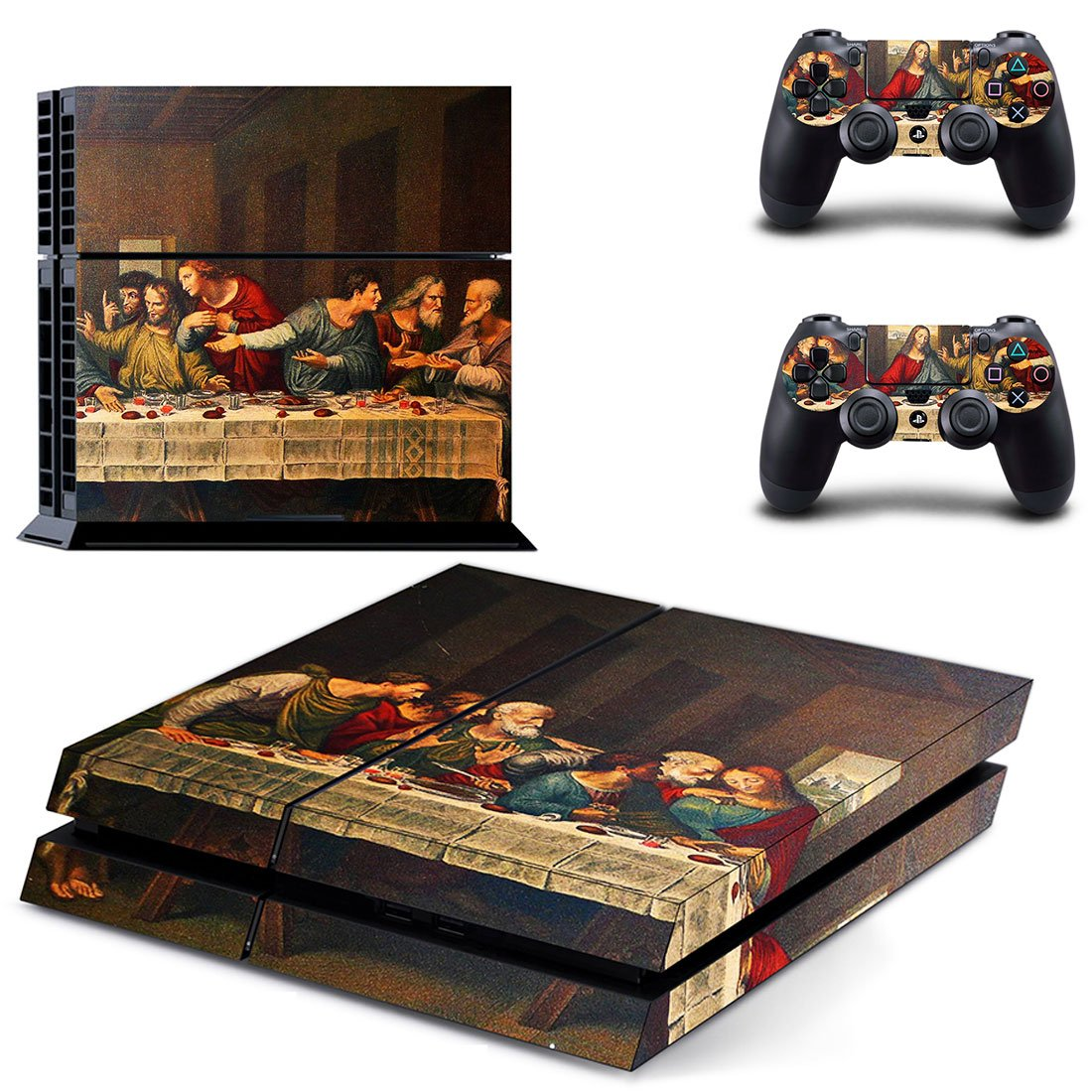Jesus christ last supper ps4 skin decal for console and 2 controllers