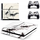 Painting ps4 skin decal for console and 2 controllers