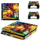 Acrylic painting ps4 skin decal for console and 2 controllers
